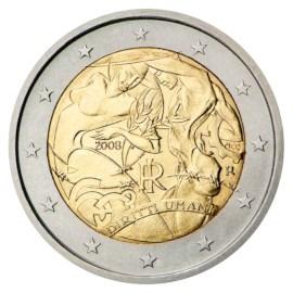 "Italië 2 Euro ""Mensenrechten"" 2008"