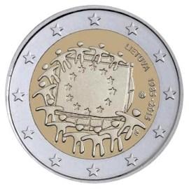 """Litouwen 2 Euro """"Europese Vlag"""" 2015"""