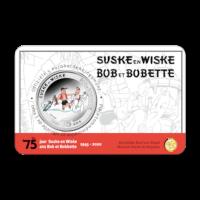 5 euromunt België 2020 '75 jaar Suske en Wiske' kleur BU in coincard