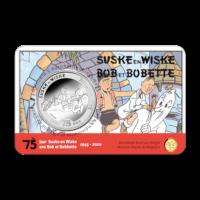 5 euromunt België 2020 '75 jaar Suske en Wiske' reliëf BU in coincard