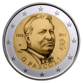 "Italië 2 Euro ""Pascoli"" 2012 UNC"