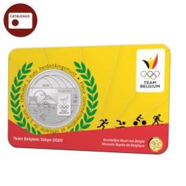 5 euromunt België 2020 'Team Belgium' reliëf BU in coincard