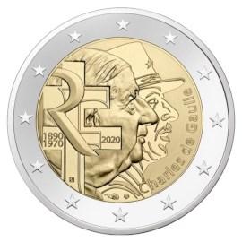 """Frankrijk 2 Euro """"De Gaulle"""" 2020"""