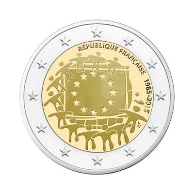 "Frankrijk 2 Euro ""Europese Vlag"" 2015"