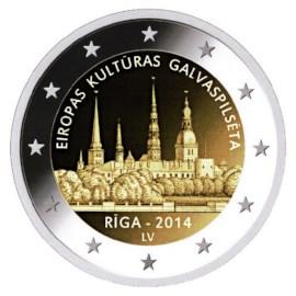 """Letland 2 Euro """"Riga"""" 2014"""