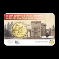 2,5 euromunt België 2020 '100 jaar Olympische Spelen Antwerpen' reliëf BU in coincard