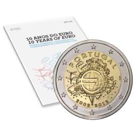 """Portugal 2 Euro """"10 Jaar Euro"""" 2012 BU Coincard"""