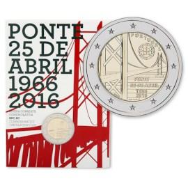 "Portugal 2 Euro ""25-April Bridge"" 2016 BU Coincard"
