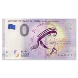 """0 Euro Biljet """"Moeder Teresa"""""""