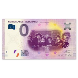 """0 Euro Biljet """"Staalmeesters"""""""