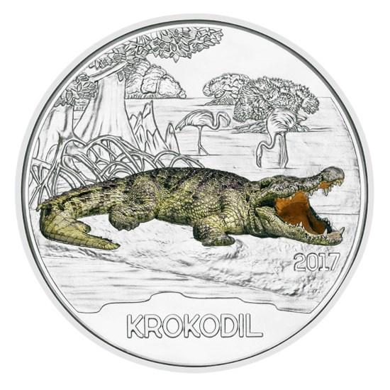 """Oostenrijk 3 Euro """"Krokodil"""" 2017"""