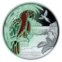 "Oostenrijk 3 Euro ""Papagaai"" 2017"
