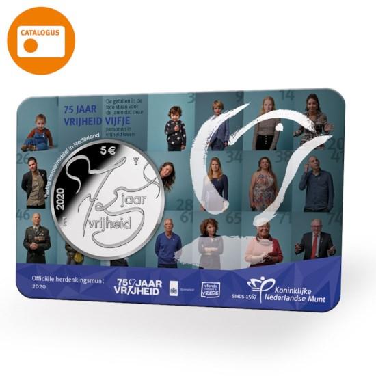 75 jaar vrijheid Vijfje 2020 UNC in coincard
