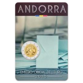 """Andorra 2 Euro """"Stemrecht"""" 2015 BU Coincard"""