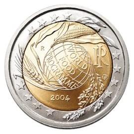 """Italië 2 Euro """"World Food Program"""" 2004"""