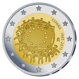"""Spanje 2 Euro """"Europese Vlag"""" 2015"""