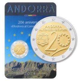 """Andorra 2 Euro """"Raad van Europa"""" 2014"""
