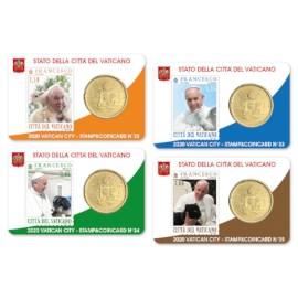 Vatican Coincard + Timbre Set 2020