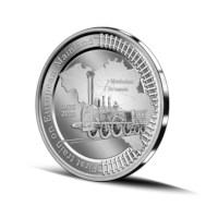 Pièce de 5 euros Belgique 2020 « 185 ans premier train sur le continent européen » Belle-épreuve en argent multi-vue
