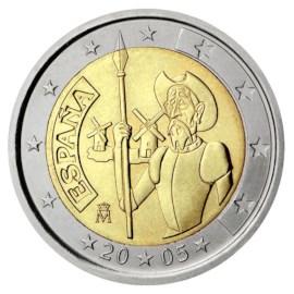 "Spanje 2 Euro ""Don Quichot"" 2005"