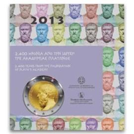 """Greece 2 Euro """"Plato"""" 2013 BU Coincard"""