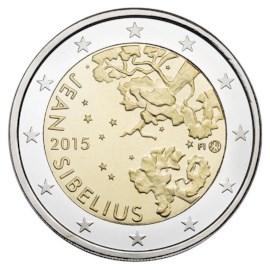 """Finland 2 Euro """"Sibelius"""" 2015 UNC"""