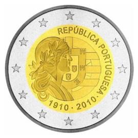 "Portugal 2 Euro ""Republiek"" 2010"