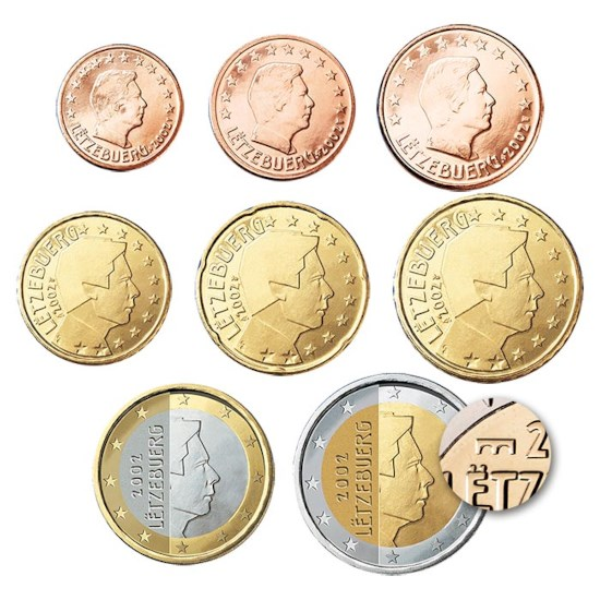 Luxembourg UNC Set 2019 with Dutch mint master sign