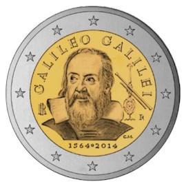 """Italië 2 Euro """"Galilei"""" 2014"""