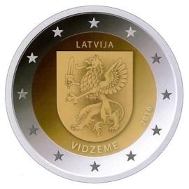 """Letland 2 Euro """"Vidzeme"""" 2016"""