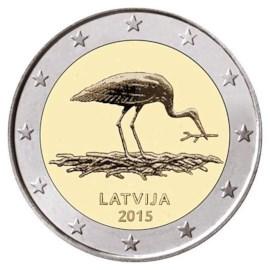 """Letland 2 Euro """"Ooievaar"""" 2015"""