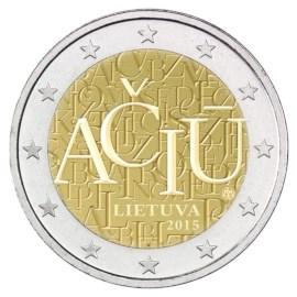 """Litouwen 2 Euro """"Taal"""" 2015"""