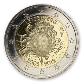 """Luxemburg 2 Euro """"10 Jaar Euro"""" 2012"""