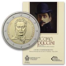 """San Marino 2 Euro """"Puccini"""" 2014"""