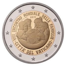"""Vaticaan 2 Euro """"Wereld Familiedagen"""" 2015"""