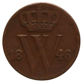 ½ Cent 1846-1847 Willem II ZFr