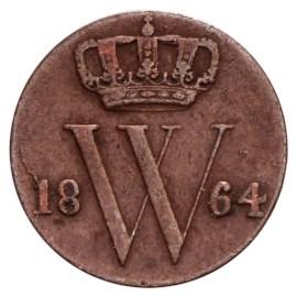 ½ Cent 1850-1873 Willem III ZFr