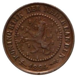 ½ Cent 1891-1901 Wilhelmina (1e type) ZFr