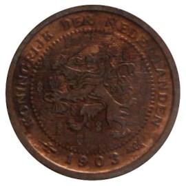 ½ Cent 1903-1906 Wilhelmina (2e type) ZFr