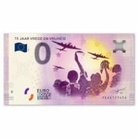 "Zero-Euro Banknote ""75 years of freedom"""