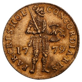Gold Ducat 1779 Holland VF+
