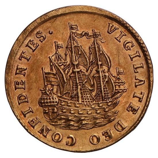 Scheepjesschelling 1744 Holland Golden EF+