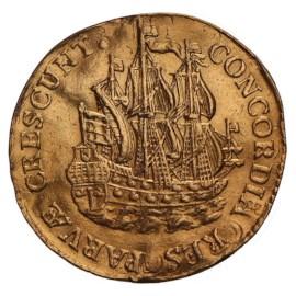 Scheepjesschelling 1741 Utrecht Golden VF+