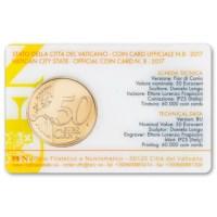 Vaticaan 50 Cent 2017 BU Coincard