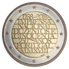 "Portugal 2 Euro ""Nationale Drukkerij"" 2018"