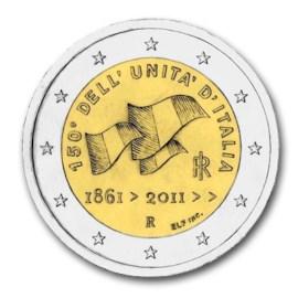 """Italië 2 Euro """"Italiaanse Eenheid"""" 2011"""