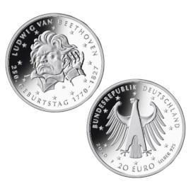 "Duitsland 20 Euro ""Beethoven"" 2020"