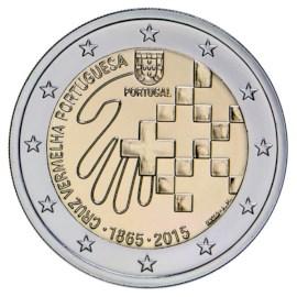 """Portugal 2 Euro """"Rode Kruis"""" 2015 UNC"""
