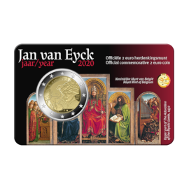 "2 Euro Coin Belgium 2020 ""Jan van Eyck Year"" BU in Coincard NL"