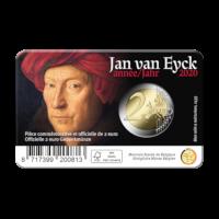 2 euromunt België 2020 'Jan van Eyck jaar' BU in coincard NL